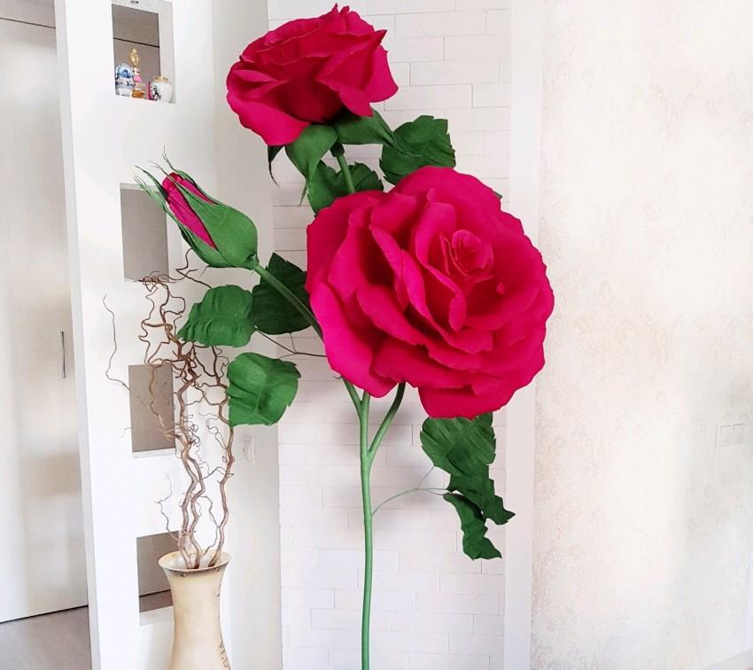 Ростовые розы из фоамирана мастер класс с пошаговым фото шаблоны