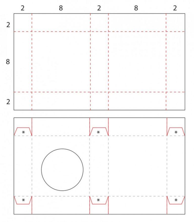 Как сделать коробочку из картона для открытки