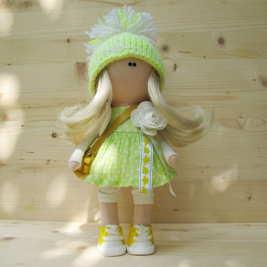 Кукла из цветов своими руками