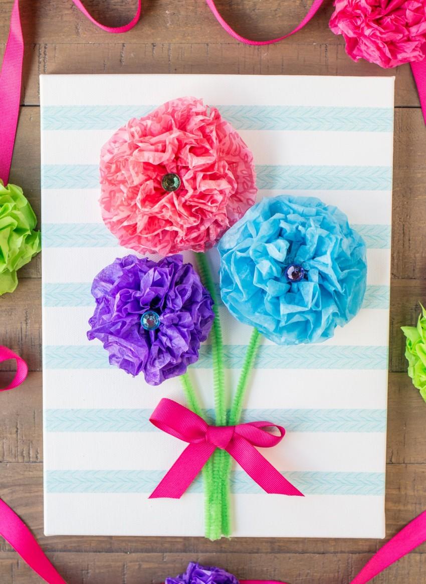 Как сделать живую открытку с цветами, контакте