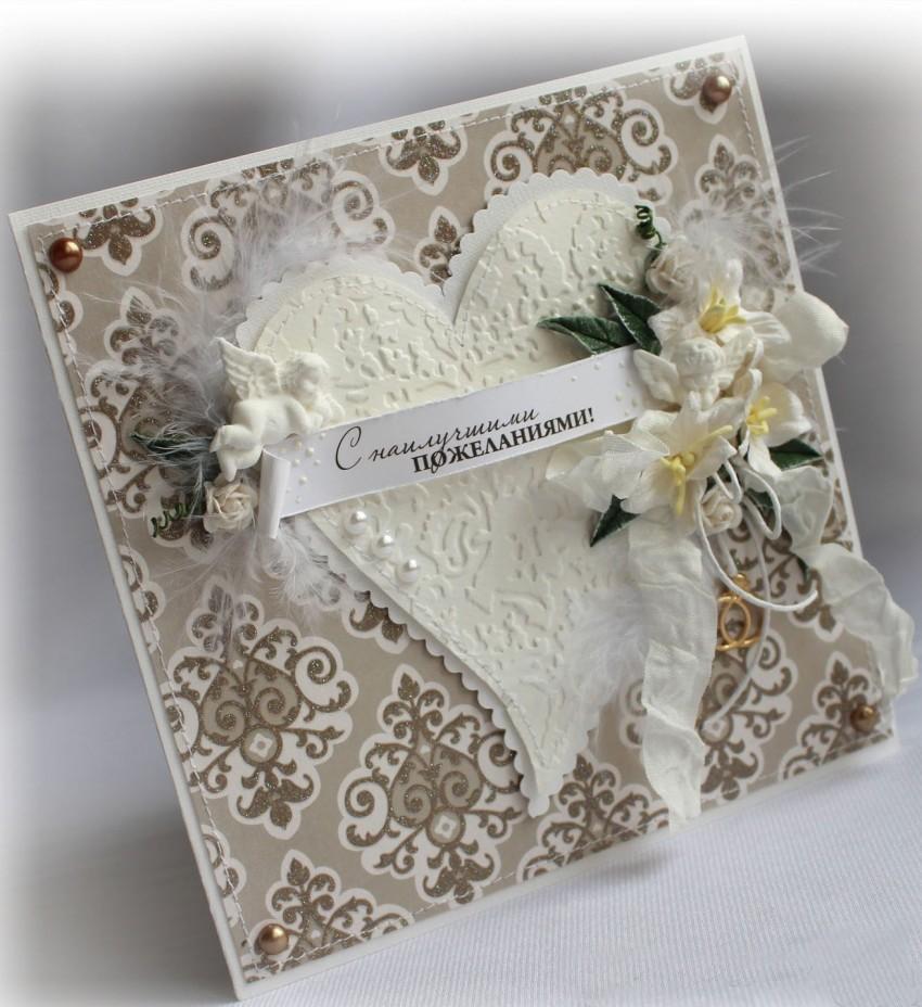 Как делать открытку для свадьбы
