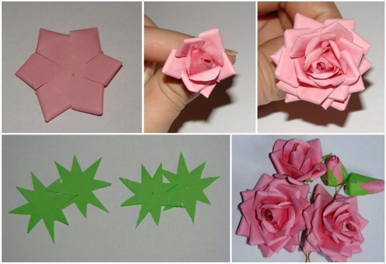 Как делать из бумаги несложные розы фото
