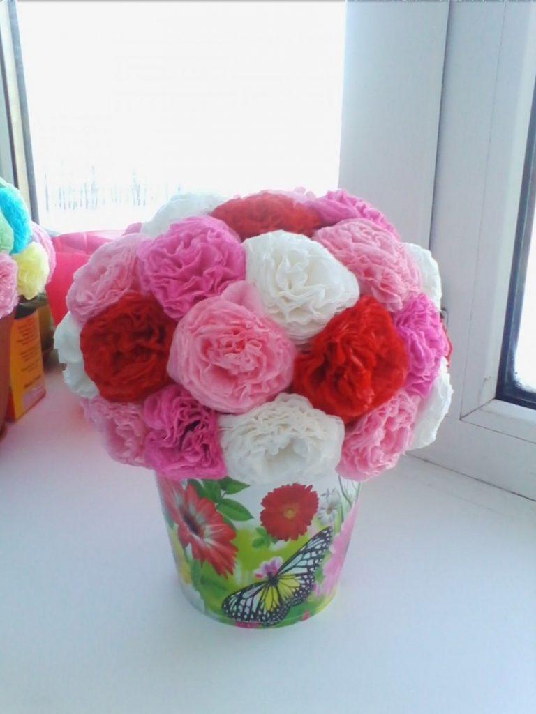 Открытки из цветов из салфеток своими руками, сделать