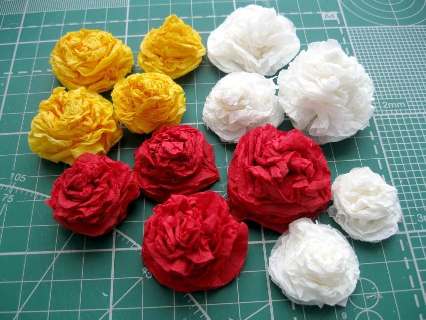стороны двора, розы из бумажных салфеток фото берёзки
