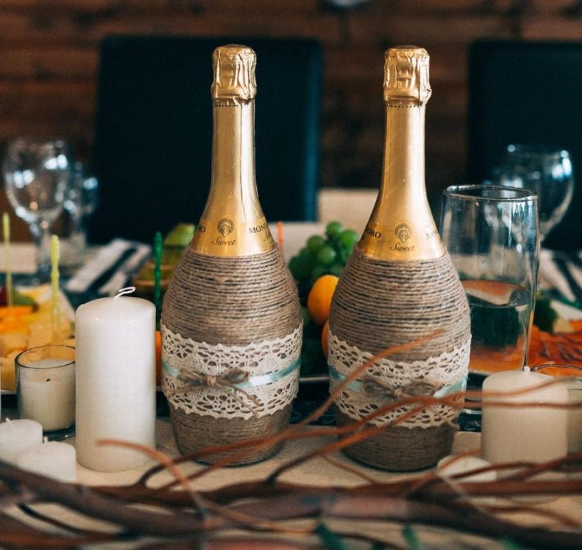 Как украсить шампанское своими руками 725
