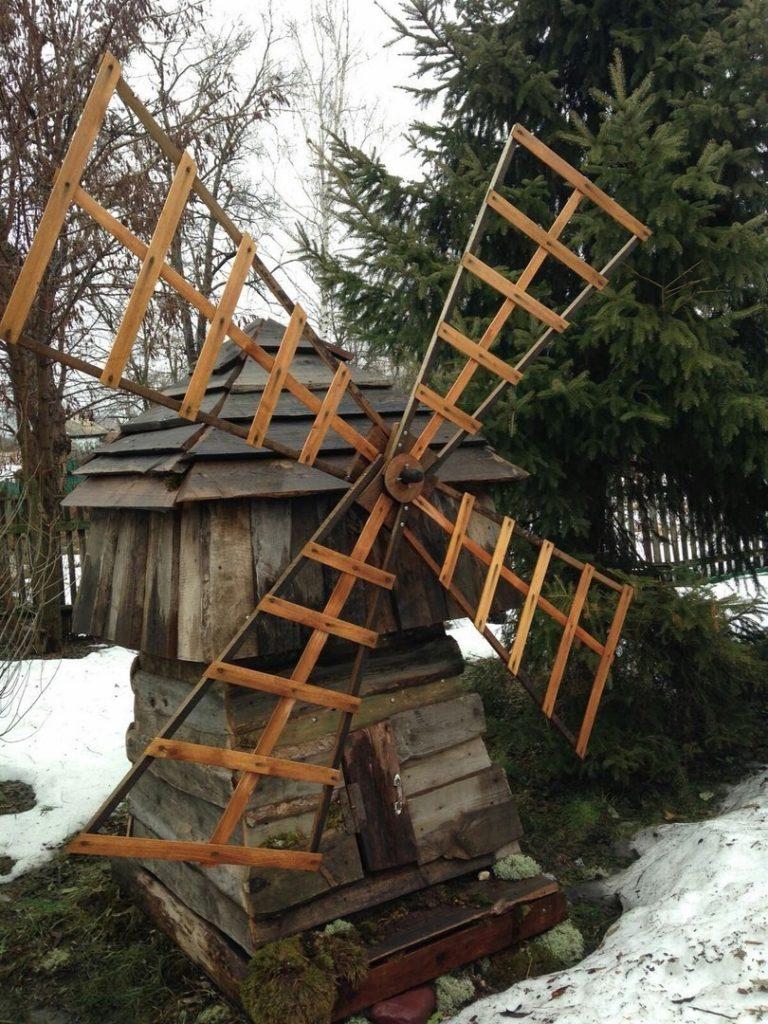 мельница на пне для сада фото тест, наоборот, позволяет
